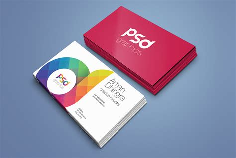 Business Card Mockup Template Psd by Business Card Mockup Template Free Psd Psd Graphics