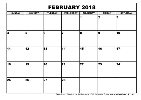 printable calendar february 2018 february 2018 calendar calendar monthly printable