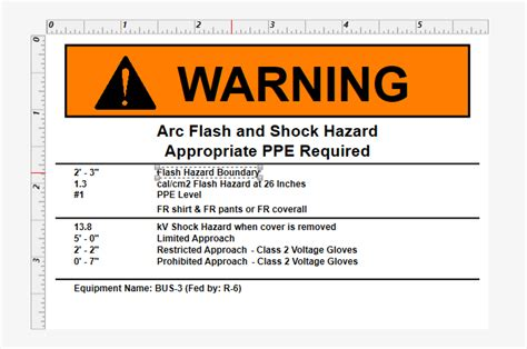 Changing Text On A Label Template Arc Flash Label Template