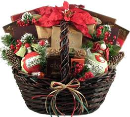 Holiday Basket A Homespun Holiday Christmas Gift Basket