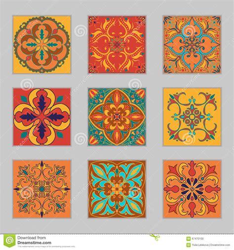 design elements tile set of vector portuguese tiles beautiful colored patterns