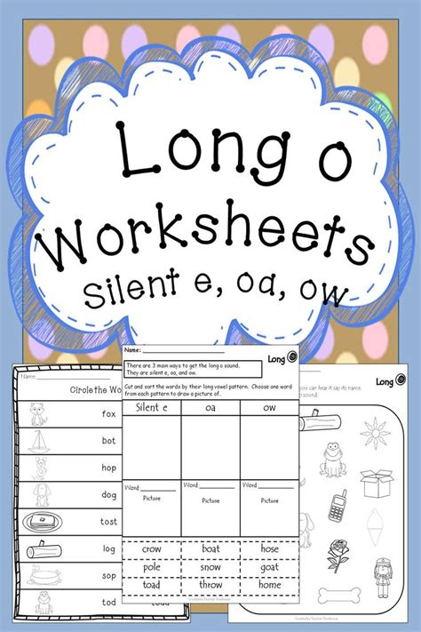 magic e pattern long o worksheets silent e spelling and worksheets