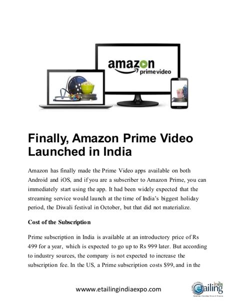 amazon prime video india finally amazon prime video launched in india