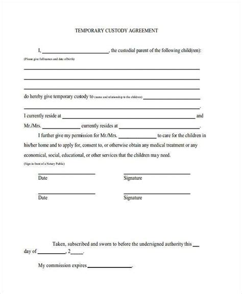 sle visitation agreement letter visitation agreement template 28 images basic visitation schedule free forms for child