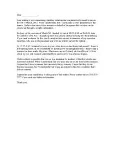 Complaint Letter Sle Parking Parking Complaint Letter