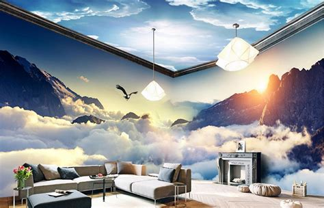 salon volo coupons custom dream clouds and mountains 3d wallpaper living room