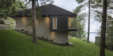modern lake house the slender house