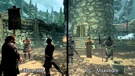 skyrim console ps3 the elder scrolls v skyrim grafikvergleich pc 360