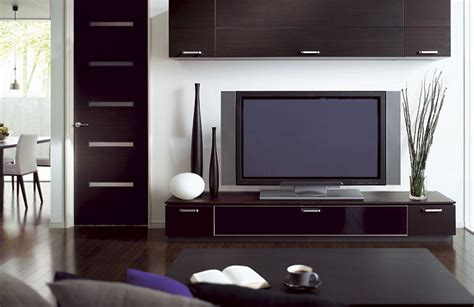 minimalist living room with tv stand table l wooden
