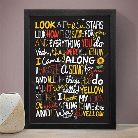 coldplay yellow testo best 25 coldplay poster ideas on coldplay