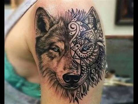 best 10 wolf tattoo design for sleeve 2017 2018 youtube
