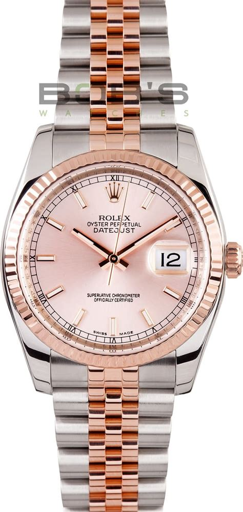 Rolex Datejust Combi Rosegold rolex datejust gold stainless save on authentic rolex at bobs