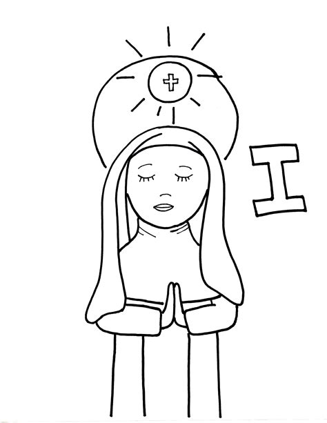 catholic alphabet coloring pages i is for bl imelda lambertini saints to color