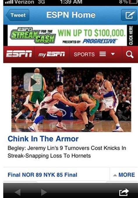 espn offers quick apology for racist lin headline ny daily news op ed the idiocy behind espn s jeremy lin chink in armor