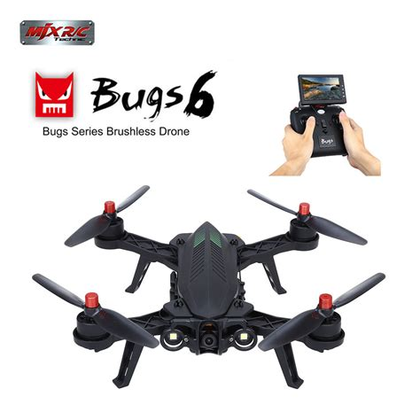 Mjx Bugs 6 B6 Professional Racing With Mjx C5830 5 8g 720p mjx b6 bugs 6 rc drone gyro real time quadcopter 2 4ghz 6axis rtf monitor rc airplane fly