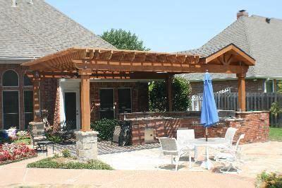 covered patio cedar pergola outdoor kitchens photo