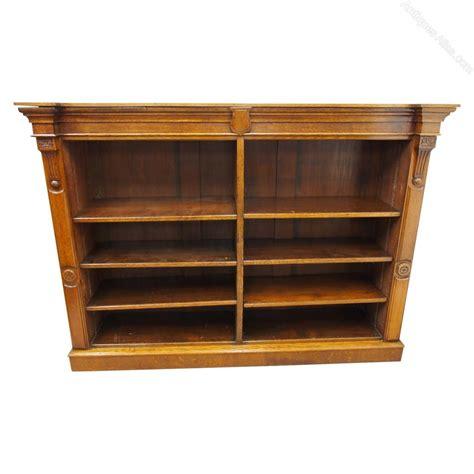Break Front Bookcase Double Fronted Oak Open Bookcase Antiques Atlas
