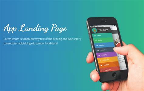 best templates for pages app best app landing page templates in 2018