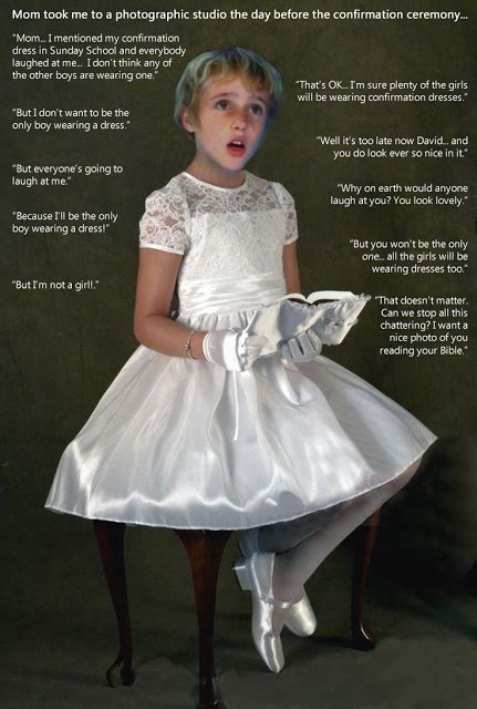forced to wear girls clothes captions a beautiful confirmation dress girls boys in dresses