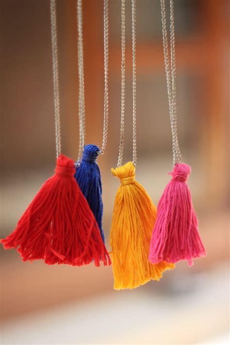 diy tassels diy tassel necklace style inked