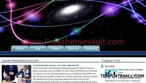 galaxy themes mozilla galaxy blue black css web template freethemes4all