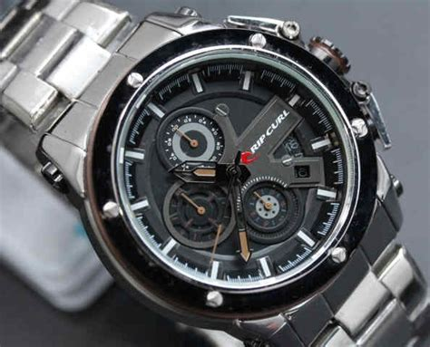 Ripcurl Chrono Brown casio g shock kw replika jam expedition kw