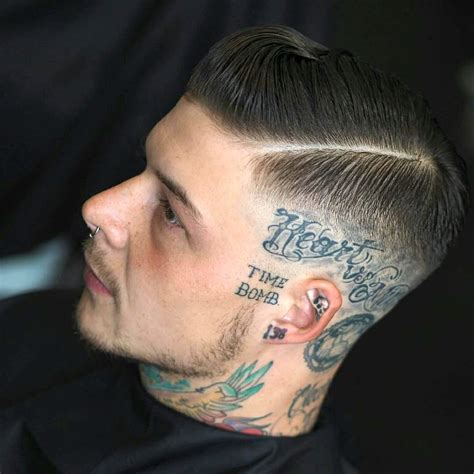 tattooed hair for bald men 27 cool hairstyles for