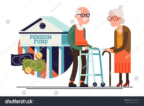clipart pensione cool vector pension fund concept illustration stock vector