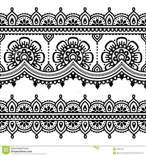 mehndi indian henna tattoo pattern or background stock