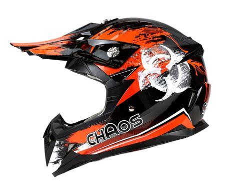 motocross crash helmets chaos motocross crash helmet orange
