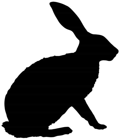 Farmyard Wall Stickers bunny outline clipart best