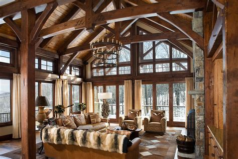 timber frame home interiors timber frame home