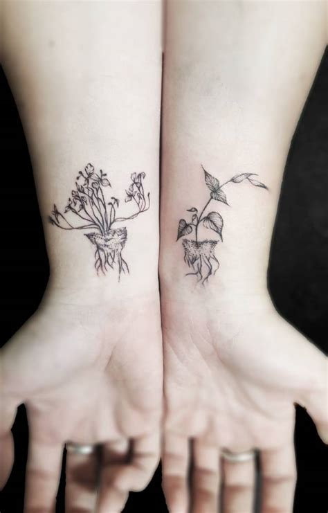 small matching tattoos for girls unearthed flash matching set artist