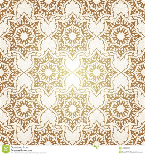 ottoman motifs decorative seamless pattern in ottoman motif stock image