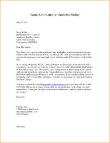 Cover Letter For College Senior 9 Highschool Cover Letter Invoice Template Download