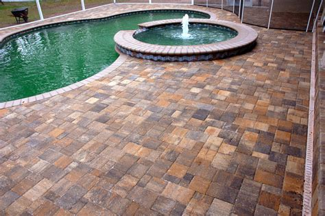 paver pool deck pool deck 1 artistic pavers surfaces