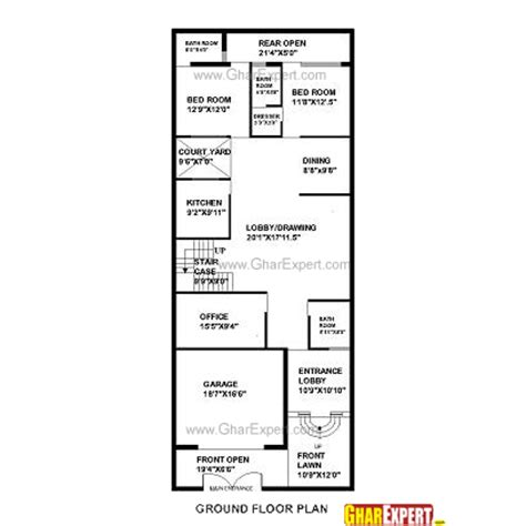 80 yard home design house plan for 30 feet by 75 feet plot plot size 250