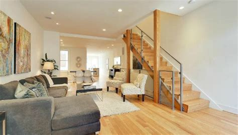 row house interiors this week s find breezy contemporary interior in a capitol hill row house