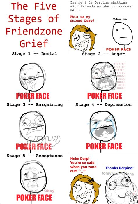 stages  friendzone grief rage comics grief funny memes