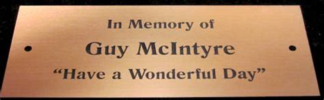 bench memorial plaques park bench plaques standard sizes