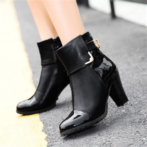 Winter Shoes Pumps by New 2016 Fashion S Ankle Boots Thin High Heels