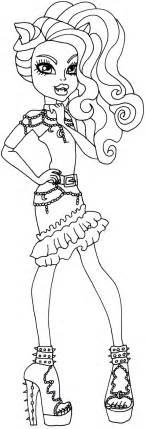Free Coloring Pages Of Clawdeen Wolf As Baby Clawdeen Wolf Coloring Pages