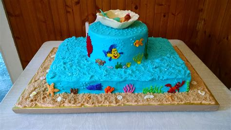 The Sea Cakes For Baby Shower by The Sea Baby Shower Cake For Ariel Jake 2015