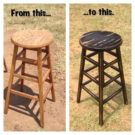 how to paint a bar stool diy refinished bar stool paint base with black flat