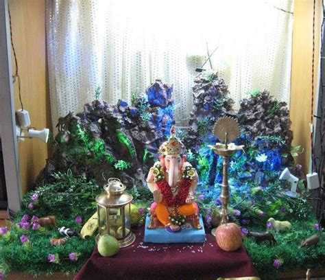 ganpati decoration at home ideas for ganpati decoration at home ganpati bappa morya