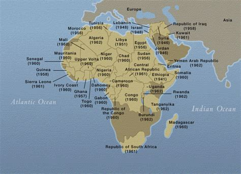 africa map 1950 decolonization africa and the middle east 1940s and