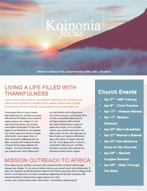 Beautiful Edit Ready Church Newsletters And Newsletter Templates Religious Newsletter Templates Free