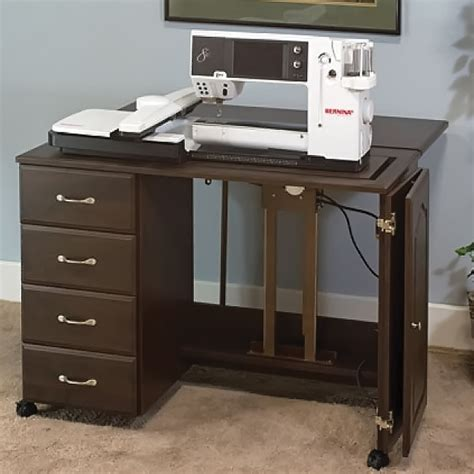 sewing machine cabinets with electric lifts sewingrite premium 4 drawer sewing storage cabinet with