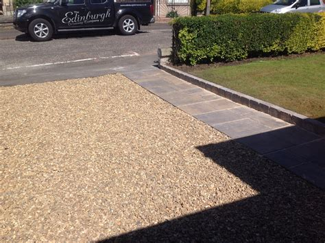 chipped driveway and path in edinburgh eh9