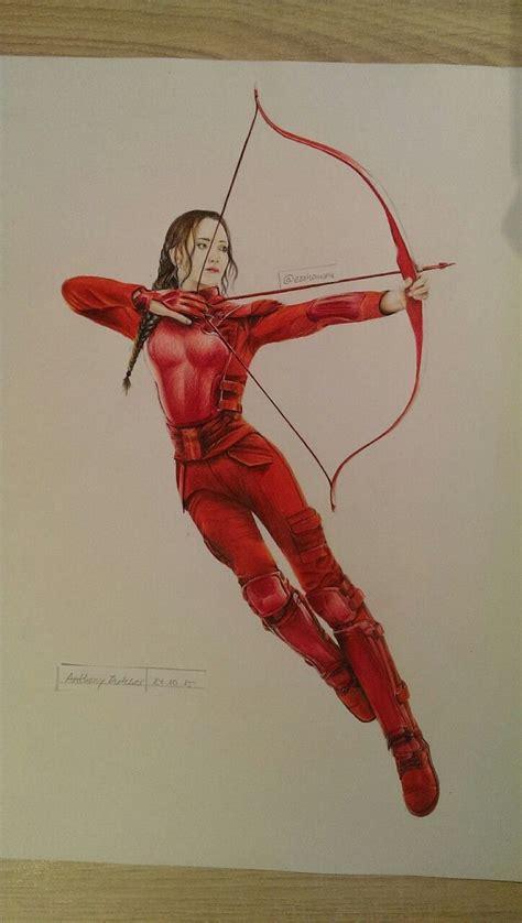 drawing  katniss everdeen   red mockingjay